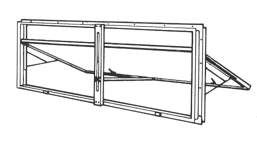 Ventilation Top-Hinge Doors